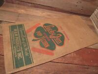 VINTAGE Lucky Jim HYBRID POP CORN SEED GRAIN CANVAS BAG SACK