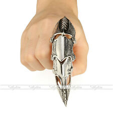 1PC Men's Armor Knuckle Full Finger Double Ring Punk Rock Gothic Jewelry Cool