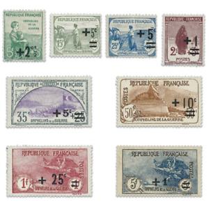 FRANCE N°162 A 169 ORPHELINS DE GUERRE ,TIMBRES**/*1922