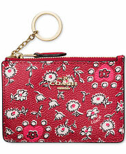NEW ARRIVAL NWT COACH 57852B BOXED MINI SKINNY WALLET WILD HEARTS PRINTED CANVAS