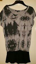 Ladies Evie size 12 black & grey top t shirt BNWT