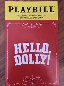 HELLO, DOLLY! PLAYBILL 2019 HOLLYWOOD PANTAGES T-R BETTY BUCKLEY LOS ANGELES CA
