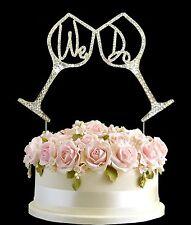 Diamante Strass Gemma cake topper Compleanni Anniversario Argento-TAZZA facciamo