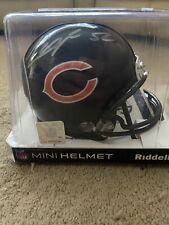 Khalil Mack Chicago Bears Autographed Riddell Speed Mini Helmet w/GA coa