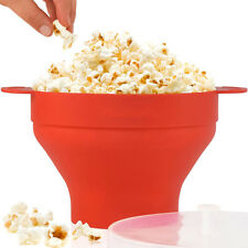 Popcorn Maker Pop Corn Bowl Machine Microwave Cooker Fat Free Kitchen Home