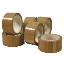 12 Rolls Packaging Tape 45 Micron Strong Brown Parcel Packing Sealing 48mm X 66m