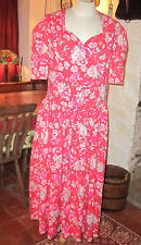 VINTAGE LAURA ASHLEY SUMMER ROSES TEA DRESS. LOVELY CONDITION. SIZE 12.