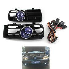 Front Bumper Grill Blue Fog Light Grille for VW Golf MK4 97-03