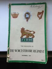 Worcestershire Regiment Magazine 'FIRM' December 1933 Vol 5 No 4
