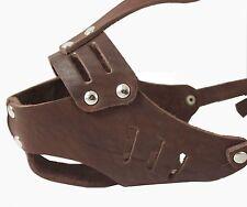 Genuine Leather Cage Basket Secure Dog Muzzle ( Brown ) - Poodle, Spaniel