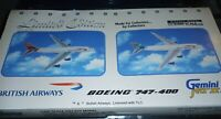 RARE LIMITED EDITION Gemini Jets 1:400 British Airways 747 2-Pack (Queens Of The
