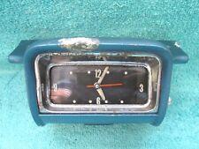 1958 OLDSMOBILE  DASH CLOCK & BEZEL HOUSING  ORIGINAL GM 1117