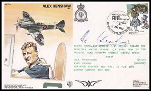 Spitfire Test Pilot ALEX HENSHAW MBE Signed on own RAF Cover