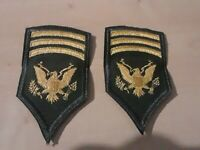 Lot of 2 US ARMY ORIGINAL MASTER SPECIALIST RANK PATCHES (1955), SPEC7/E-7