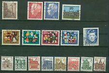 Berlin Jahrgang 1964 , gestempelt ,  Auswahl aus Michel Nr.  233 - 249