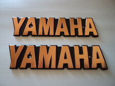 Yamaha Fuel Gas Retro Tank Emblem Badge GOLD & BLACK **UK STOCK**
