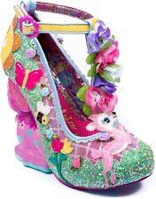 "Irregular Choice ""Fantastic Fawn"" Deer Floral Glitter Heels Size EUR 37 US 6.5"