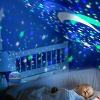 Sterne Projektor Lampe Mond Sternenhimmel Nachtlicht LED Sterne Licht USB Best💎
