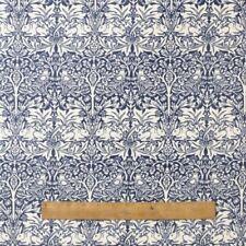 LAWN Fabric Pimpernel Blue William Morris Style Cotton 140cm ~ Per Long Quarters