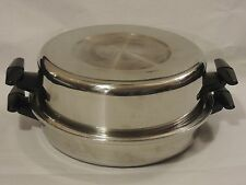 Diamond Craft 304-S Tri-Ply Stainless Steel Skillet W/ Domed Lid