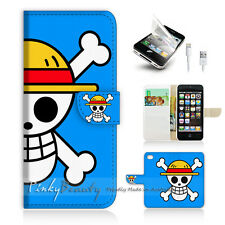 ( For iPhone 5C ) Wallet Case Cover! One Piece Blue Sign P0150