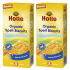 2 x HOLLE Organic Spelt Biscuits Cookies Snacks for Babies from 8 Months 150g