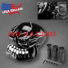 Black Universal Manual Wicked Skull Head Gear Stick Car Shift Knob Shifter