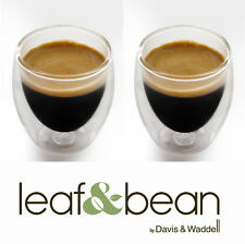 Davis & Waddell Espresso Coffee Double Dual Wall Thermo Glasses 80ml Set 2