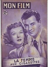 1950 mon film n°181 IDA LUPINO et CORNEL WILDE dans LA FEMME AUX GIGARETTES