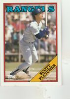 FREE SHIPPING-MINT-1988 Topps Texas Rangers Baseball Card #345 Scott Fletcher