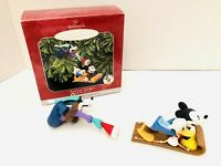 1998 HALLMARK DISNEY RUNAWAY TOBOGGAN KEEPSAKE ORNAMENT 2PC MICKEY GOOFY DONALD