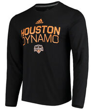 Adidas Houston Dynamo Men's LS Locker Stacked Soccer Jersey Shirt Medium M