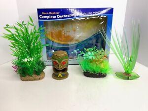 Penn-Plax Deco-Replicas Complete Decorating for your Aquarium 4-Piece Kit Tiki