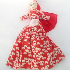 Vtg Little Red Riding Hood Topsy Turvy Fabric Doll Granny Wolf Fairytale 60s 70s
