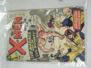 vintage X-Men no. 6 12 cent Marvel 1964 Sub Mariner joins Evil Mutants comic