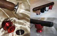 Travel Cigar Rest Holder Ashtray & Punch Red Aluminum Fit 70 Ring Cohiba Cigar