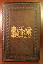 Works of Lord Byron 1873 Illustrated Edition Fine Leather Binding Poetry