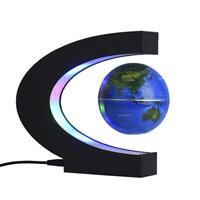New C Shape LED Magnetic Levitation Floating Globe World Map Home Decor Gift