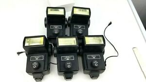 Lot of 5 Vivitar 283 Auto Thyristor Electronic Flash, Not Tested, May Not Work