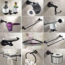 Black Oil Rubbed Bronze Bathroom Accessories Set Bath Hardware Towel Bar mset009