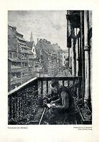 Feierabend in Alt Breslau Kunstdruck 1923 von Siefgfried Laboschin * in Gnesen
