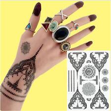 1 Blatt Tattoo Körpertattoo Aufkleber Hauttattoo Wasserdicht Lace Blumen Design