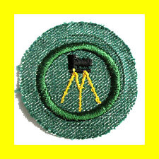PHOTOGRAPHY 1948 Intermediate Girl Scout Badge BMG, Tripod Camera Combine Ship