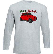 VINTAGE ITALIAN CAR FIAT 500 Racing-Nuovi Cotone T-shirt