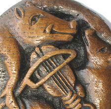 Cochon jouant luth Cathédrale sculpture unique Piggy Musicale Violon Violon Ornament