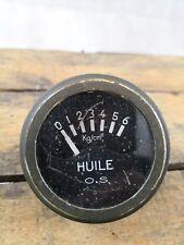 Compteur huile OS jeep wyllis/hotckiss 6 volts/ancien/pièce d'origine/ww2
