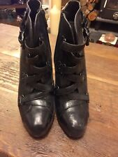 Ash Ankle Boots (black leather) Size 40