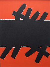"""GIUSEPPE CAPOGROSSI mounted vintage print, 1967, 60s abstract, 12 x 10"""", GC03"""