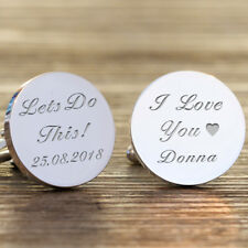 Personalised Lets do this Wedding Groom Cufflinks, Wedding Day Gift, Groom Gift