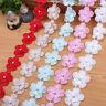 2 Yards Doppelschicht Organza Blumen Spitze handgemachte Kleidung Dekoration